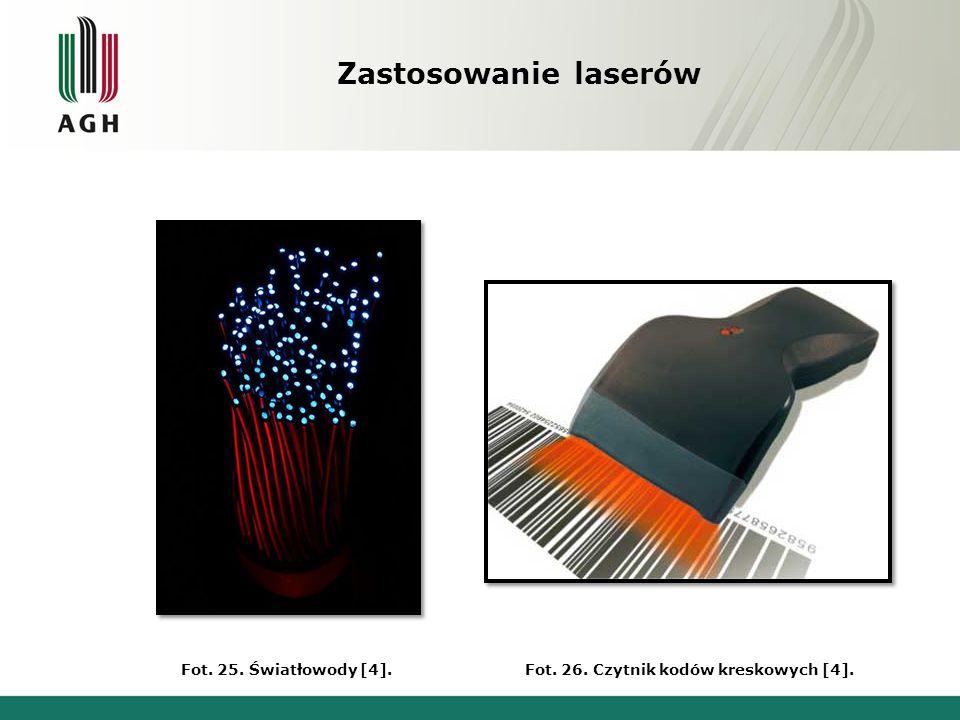 Zastosowanie laserów Fot. 25. Światłowody [4].